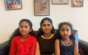Archana with daughters